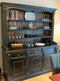 ideas china hutch decor pinterest: custom made custom black rustic china cabinet from salvaged barn boards