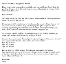 online job scams target the unemployed here now this email is an example of a scam targeting the unemployed