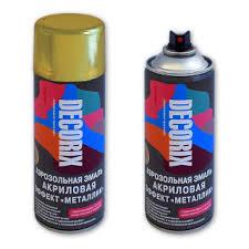 Купить аэрозольную <b>краску</b> металлик в баллончике Decorix ...