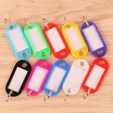 <b>wholesale 100Pcs Mix Color</b> Plastic Keychain Key Tags Id Label ...