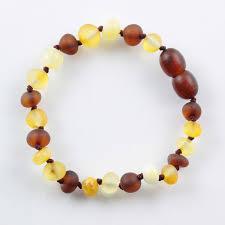 Mix <b>Raw</b> BAROQUE Baby <b>teething Baltic amber</b> bracelet