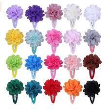 <b>10PCS Mixed Colors</b> Chiffon Flower <b>Barrettes</b> Baby Girls Hair Clips ...