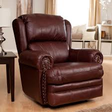 dark brown leather swivel chair living room catnapper deluxe buckingham leather rocker recliner recliners with roc