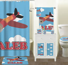 masks bathroom accessories set personalized potty:  airplane bath towel personalized