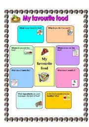english teaching worksheets  my favourite foodenglish worksheets  my favourite food template for compostion