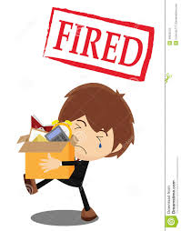 fired from a job stock vector image  fired from a job