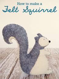 Make your own felt <b>squirrel</b> toy – SheKnows