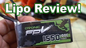 <b>Ovonic</b> FPV <b>1550mah 4S</b> 100C Lipo Review - YouTube