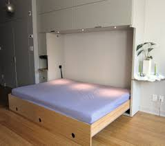 modern white wood queen horizontal murphy bed with rectangle shaped bed frame that have cool awesome murphy bed office