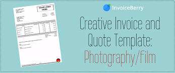 creative invoice and quote template photography film creative invoice and quote template photography film