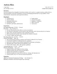 petroleum operator resume samples eager world professional resumes gallery of heavy equipment operator resume