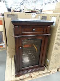 costco wine cooler cabinet really nice furniture at costco and this refrigerated wine cabinet arched table top wine cellar furniture
