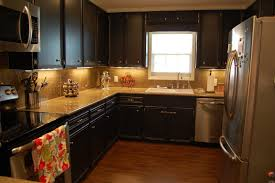 Painted Kitchen Painting Kitchen Cabinets Painting Kitchen Cabinets A Dark Color