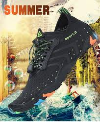 <b>Aqua Shoes Summer Water Shoes Men</b> Breathable Beach Slippers ...