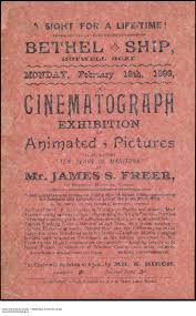 history of the canadian film industry the canadian encyclopedia a flyer advertising james r s ten years in manitoba ldquo25 000 instantaneous photos on a half a mile of edison film reproducing the domestic and