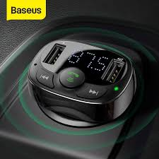 Baseus Dual <b>USB Car Charger</b> Car FM Transmitter <b>Bluetooth</b> ...