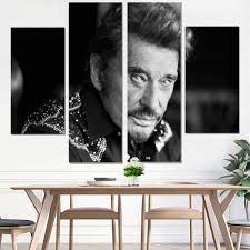 <b>canvas painting johnny</b> hallyday painting canvas poster vintage ...