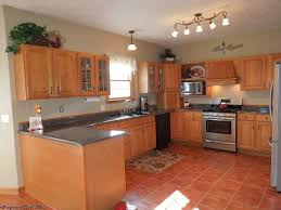 Terra Cotta Tile In Kitchen Terracotta Tile Kitchen Mediterranean Kitchen With Island