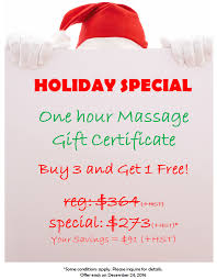 limited time offer special holiday gift certificates are now holiday special massage gift certificate
