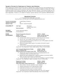 usajobs sample resume sample resume  usa