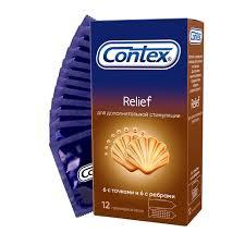 <b>Contex</b> Relief <b>Презервативы</b> с ребрами и точками для ...