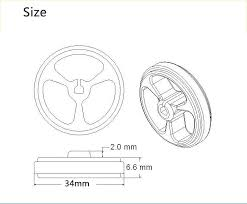 <b>One Pair 34mm Wheels</b> for N20 Motor Arduino Smart Robot Car ...