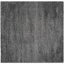 safavieh california shag dark gray square indoor machine made area rug common 4 california shag black 4 ft