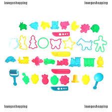 LOVEGOSHOP <b>36pcs</b> Play Dough Playdough Tools Polymer Clay ...