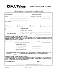 Recurring Credit Card Authorization Form Template | Besttemplate123 Recurring Credit Card Authorization Form Template