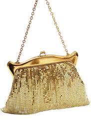 <b>Vintage</b> 1950s Whiting and Davis <b>gold</b> mesh handbag in <b>original</b> ...