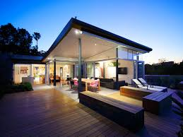 Modern House Pics  carldrogo commodern awesome design of the modern house design that has wooden floor can be decor   wooden floor and gl materials make it seems nice   warm lighting
