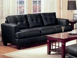 samuel black leather sofa by coaster 501681 black leather sofa