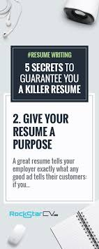 ideas about Interview Format on Pinterest   Resume  Jobs       Secrets to Guarantee You A Killer Resume   http   rockstarcv com