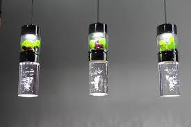2014 modern design glass bubble crystal column pendant lamp bubble lighting fixtures