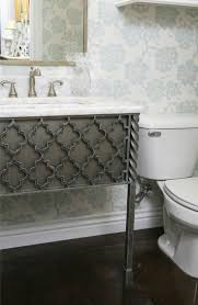 wrought iron bathroom vanity