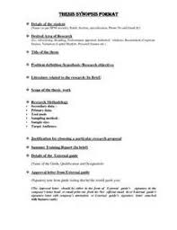 Synopsis Of Dissertation   efec Theme Preview Synopsis Format Example  middot  Dissertation Sample Synopsis