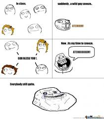 Forever Alone Sneeze God Bless You Memes. Best Collection of Funny ... via Relatably.com