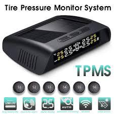 (6 External <b>Sensor</b>) Wireless USB+<b>Solar TPMS Tire Pressure</b> ...