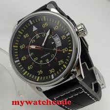 <b>44mm sterile black</b> dial date window miyota 8215 automatic ...