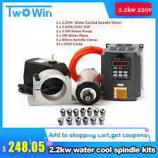 <b>Water Cooled Spindle Kit</b> 2.2KW CNC Milling Spindle Motor + 2.2 ...