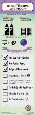 how to ensure your resume gets by a human infographic