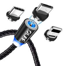 <b>OLAF</b> Magnetic <b>USB</b> Charging Cable Micro <b>USB</b> Type C Lighting ...