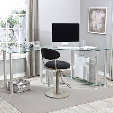 full size of adorable glass top office