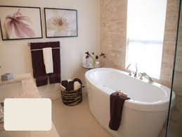 image bathtub decor: rectangular bathtub decors osbdata bathroom furniture modern bathroom decor with white standing bathtub and cream stone wall panel plus towel basket bathrooms with freestanding tubs
