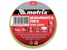 <b>Изолента</b> Matrix <b>15mm</b> x 10m White 88775 - УМС