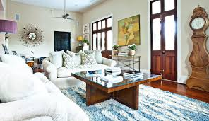 charming shag rugs in blue and white on wooden floor plus white sofa set and square charming shag rugs
