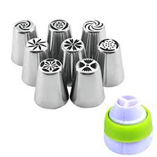 <b>8pcs</b>/<b>Set</b> Stainless Steel Russian Tulip Flower Icing Piping Nozzles ...