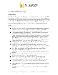 Conference Sales Manager Sample Resume order form templates word