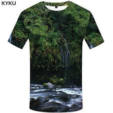 <b>KYKU</b> Forest <b>T</b> Shirt Men <b>Fish 3d T</b> Shirt Punk Rock Clothes Anime ...