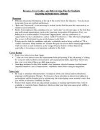 images about respiratory therapists on pinterest    respiratory therapist cover letter   resume cover letter and interviewing tips for students majoring